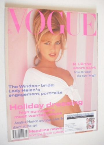 <!--1992-07-->British Vogue magazine - July 1992 - Karen Mulder cover