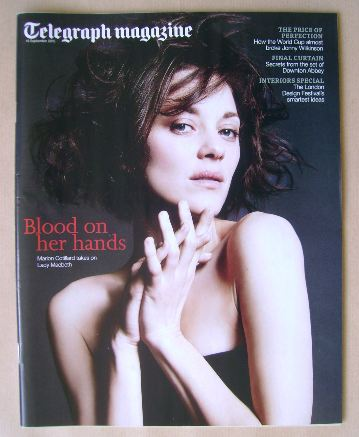 <!--2015-09-19-->Telegraph magazine - Marion Cotillard cover (19 September
