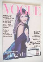 <!--1993-12-->British Vogue magazine - December 1993 - Helena Christensen cover