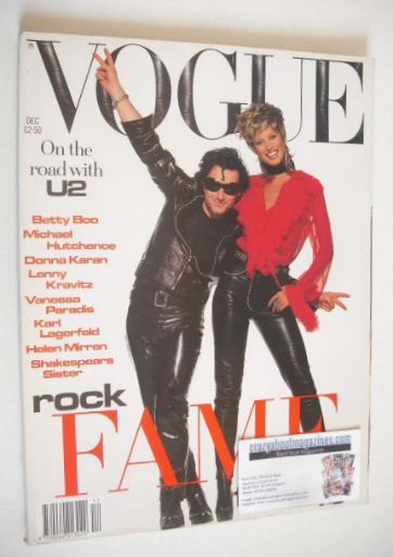 <!--1992-12-->British Vogue magazine - December 1992 - Christy Turlington a