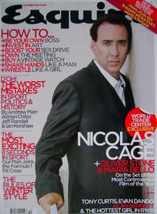 <!--2006-10-->Esquire magazine - Nicolas Cage cover (October 2006)