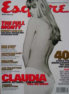 <!--1998-03-->Esquire magazine - Claudia Schiffer cover (March 1998)