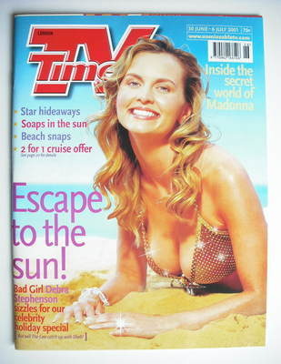 <!--2001-06-30-->TV Times magazine - Debra Stephenson cover (30 June - 6 Ju
