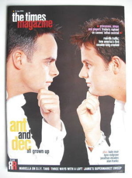 <!--2001-05-05-->The Times magazine - Ant and Dec cover (5 May 2001)