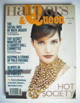 British Harpers & Queen magazine - June 1989