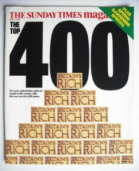 The Sunday Times Britain's Rich 400 cover (4 April 1993)