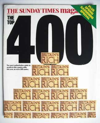 <!--1993-04-04-->The Sunday Times Britain's Rich 400 cover (4 April 1993)