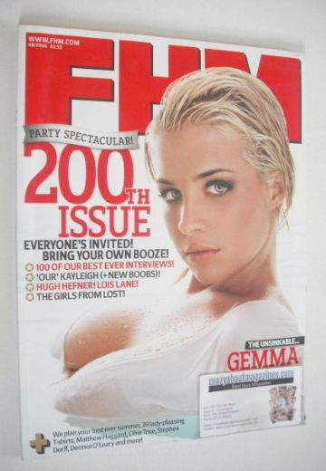<!--2006-08-->FHM magazine - Gemma Atkinson cover (August 2006)