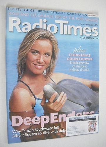 <!--2001-12-01-->Radio Times magazine - Tamzin Outhwaite cover (1-7 Decembe