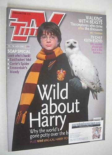 <!--2001-11-10-->TV Times magazine - Harry Potter cover (10-16 November 200