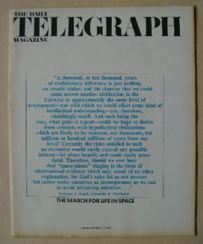 The Daily Telegraph magazine - The Search For Life In Space cover (3 March 1972)