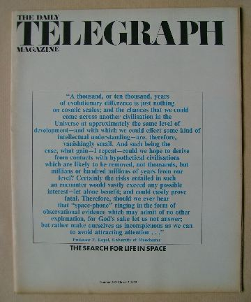 <!--1972-03-03-->The Daily Telegraph magazine - 3 March 1972
