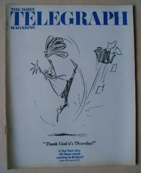 The Daily Telegraph magazine - 40-Hour Week cover (4 August 1972)