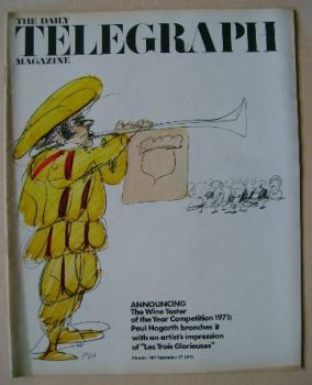 The Daily Telegraph magazine - Wine Taster Competition cover (17 September 1971)