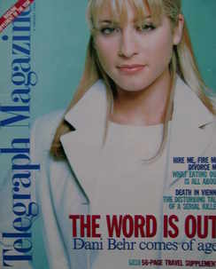 <!--1996-01-06-->Telegraph magazine - Dani Behr cover (6 January 1996)