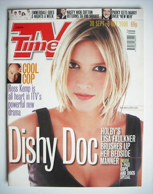 <!--2000-09-30-->TV Times magazine - Lisa Faulkner cover (30 September - 6