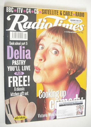 <!--1998-11-07-->Radio Times magazine - Victoria Wood cover (7-13 November