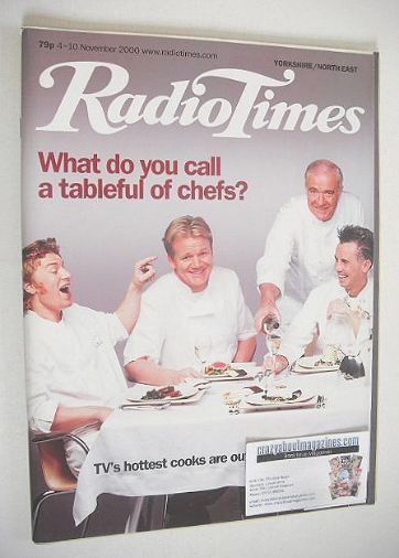 <!--2000-11-04-->Radio Times magazine - TV's Hottest Chefs cover (4-10 Nove