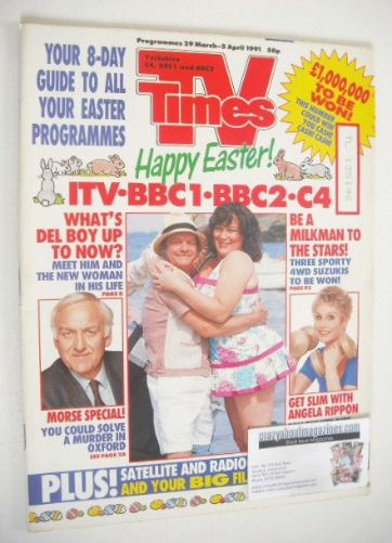 <!--1991-03-29-->TV Times magazine - Happy Easter cover (29 March - 5 April