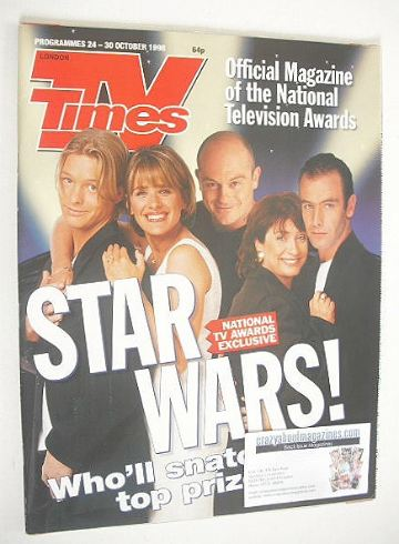 <!--1998-10-24-->TV Times magazine - National TV Awards cover (24-30 Octobe