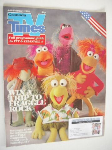 <!--1984-02-04-->TV Times magazine - Fraggle Rock cover (4-10 February 1984