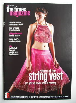 <!--2001-05-26-->The Times magazine - Return Of The String Vest cover (26 M