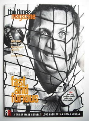 <!--2001-06-02-->The Times magazine - Darren Gough cover (2 June 2001)