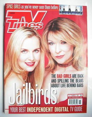 <!--2001-03-17-->TV Times magazine - Claire King and Debra Stephenson cover