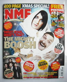 NME magazine - The Mighty Boosh cover (20-27 December 2008)