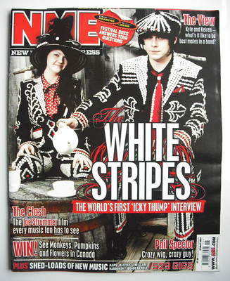 <!--2007-05-12-->NME magazine - The White Stripes cover (12 May 2007)