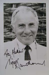Nigel Hawthorne autograph