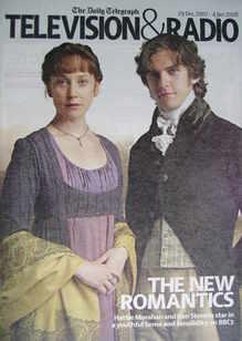Television&Radio magazine - Hattie Morahan and Dan Stevens cover (29 Decemb