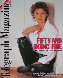 <!--1996-03-23-->Telegraph magazine - Susan Sarandon cover (23 March 1996)