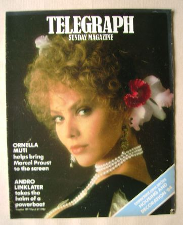 <!--1984-03-11-->The Sunday Telegraph magazine - Ornella Muti cover (11 Mar