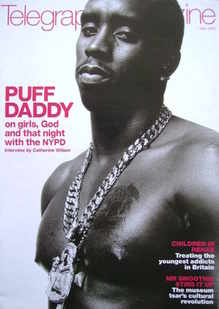 <!--2000-04-01-->Telegraph magazine - Puff Daddy cover (1 April 2000)