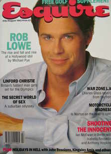 <!--1992-07-->Esquire magazine - Rob Lowe cover (July/August 1992)