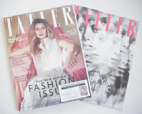 <!--2016-03-->Tatler magazine - March 2016 - Lily Travers cover