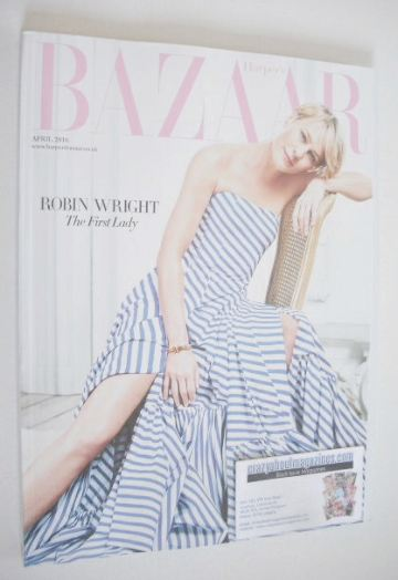 <!--2016-04-->Harper's Bazaar magazine - April 2016 - Robin Wright cover (S