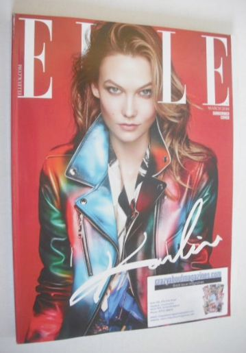 <!--2016-03-->British Elle magazine - March 2016 - Karlie Kloss cover (Subs