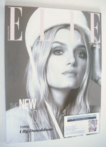 <!--2015-08-->British Elle magazine - August 2015 - Lily Donaldson cover (S