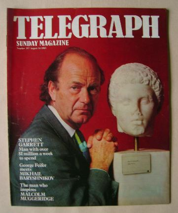 <!--1983-08-14-->The Sunday Telegraph magazine - Stephen Garrett cover (14