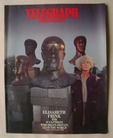 <!--1985-02-03-->The Sunday Telegraph magazine - Elisabeth Frink cover (3 F