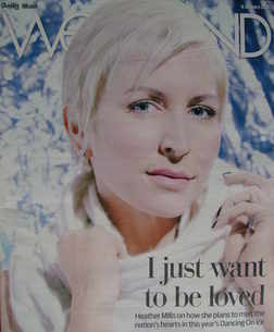 Weekend magazine - Heather Mills cover (9 January 2010)