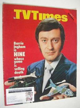 TV Times magazine - Barrie Ingham cover (1-7 May 1971)