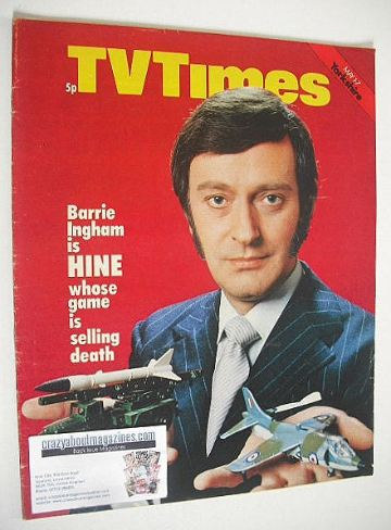 <!--1971-05-01-->TV Times magazine - Barrie Ingham cover (1-7 May 1971)