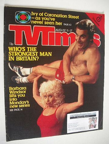 <!--1979-08-111-->TV Times magazine - Barbara Windsor cover (11-17 August 1