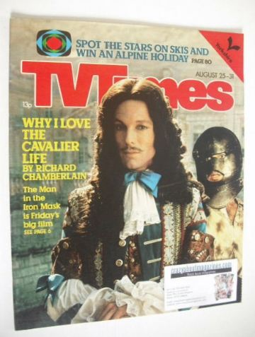 <!--1979-08-25-->TV Times magazine - Richard Chamberlain cover (25-31 Augus