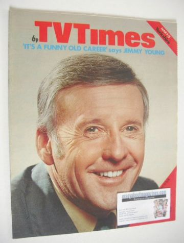 <!--1974-03-09-->TV Times magazine - Jimmy Young cover (9-15 March 1974)