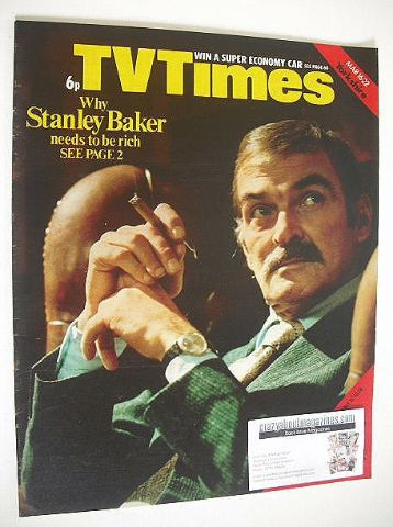 <!--1979-03-16-->TV Times magazine - Stanley Baker cover (16-22 March 1974)