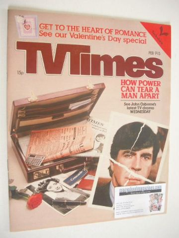 <!--1980-02-09-->TV Times magazine - Alan Bates cover (9-15 February 1980)